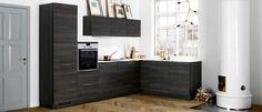 Ice Wood kök Deco, Decor, Wood, Furniture, Kitchen, Home, Dark Wood Kitchens, Home Decor, Room