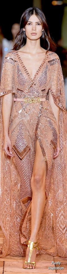 Spring Couture, Haute Couture Fashion, The Blushed Nudes, Glamour, Ulla Johnson, Zuhair Murad, Couture Collection, Sequin Dress, Evening Gowns