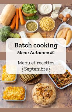 Batch cooking Automne Batch cooking (menu and recipes) for the week of September 23 to 2019 Cooking For Two, Batch Cooking, Meals For Two, Kids Meals, Cooking Tips, Cooking Recipes, Oven Cooking, Cooking Games, Cooking Bacon