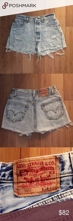 VINAGE LEVI STRAUSS Denim shorts Perfect condition, vintage Levi's, buttons up (no zipper), high-waisted, extremely flattering fit and compliments your legs & unavailable anywhere else.! You will absolutely love these! Urban Outfitters Shorts Jean Shorts