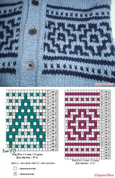 """Vest with lazy Jacquard: Diary of 'Вязание"""" group; - Country of Mothers"""