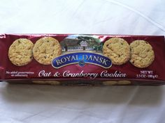 Found these in a tin container on the Christmas aisle at Super Target: Royal Dansk Oat & Cranberry Cookies