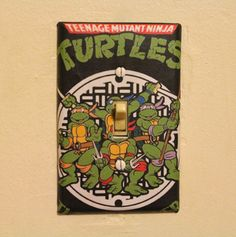 Teenage Mutant Ninja Turtles Light Switch Cover Plate on Etsy, $6.99