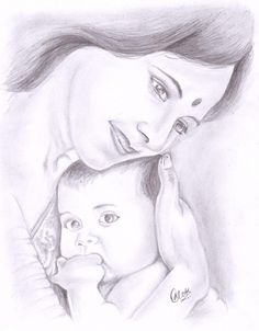 Discover Sketching by Alok Kumar on Touchtalent. Touchtalent is premier online community of creative individuals helping creators like Alok Kumar in getting global visibility. Mother And Baby Paintings, Mother And Child Drawing, Mom Drawing, Baby Girl Drawing, Mother Painting, Mother Art, Love Painting, Drawing Ideas, Cute Drawings Of Love