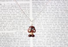 Goomba Necklace Super Mario Nintendo-Etsy $13.50