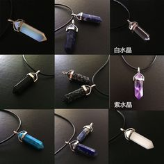 Full 35 yuan shipping natural crystal column Pendant necklace sweater Europe and Japan and South Korea trend of men and ladies accessories - Taobao Taiwan, omnipotent Taobao