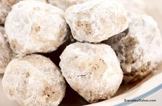 Holiday cookie exchanges wouldn't be complete without our pecan snowball cookies. Kids can roll dough into balls and dip in powdered sugar after baking.