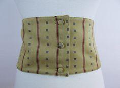 Vintage Designer GIANNI VERSACE WIDE Cumberbund  Button Closure by Douvintage on Etsy https://www.etsy.com/listing/151881289/vintage-designer-gianni-versace-wide