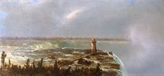 """Niagara Falls,"" Regis Francois Gignoux, oil on canvas, 9 7/8 x 20 7/8"", Questroyal Fine Art."