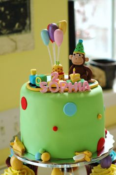 Tara's Cupcakes: Curious George Cake and Cupcake Tower