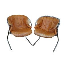 Image of Gastone Rinaldi Wire Frame Armchairs - A Pair