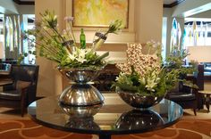 A special flower arrangement at Four Seasons Hotel Austin to celebrate the Austin Food & Wine Festival