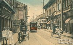 Pinoy Kollektor: Philippine TRAMVIAS (Street Cable Cars) in Postcards. Pinoy's first modern transportation Philippines Culture, Manila Philippines, Cable, Filipiniana, Old Money, Post Card, Pinoy, Carpe Diem, Filipino