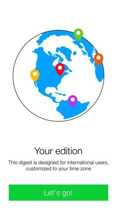 Intro Screen of iOS Yahoo! News Digest App