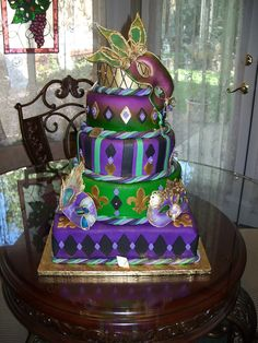 15th Birthday Mardi Gras Cake