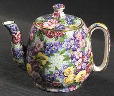 Royal Winton Julia (Disc. 1954) Individual Breakfast Set Teapot & Lid