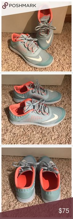 • Nike Fit Sole Sneakers • Only wore these maximum 5 times! They just are too small on me. Beautiful color 😍 bought them in Florida, haven't seen them anywhere else! A few specks of dirt here and there but nothing noticeable- practically look new! Nike Shoes Sneakers