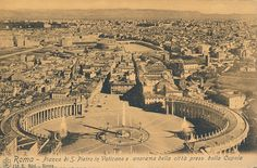 Saint Peter's Square at the Vatican and views of the city taken from the Dome, Rome, Italy Vatican Rome, Saint Peter Square, Built Environment, Great Memories, Rome Italy, Paris Skyline, City Photo, Buildings, Saints