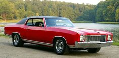 '72 Chevy Monte Carlo -- My 2nd car...mine was a hard top & jacked up in the back....miss that car...good times.....lol