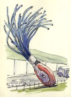 Claes Oldenberg's drawings