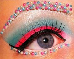 I would love it more without the crazy beads under the eye and for an eyebrow.