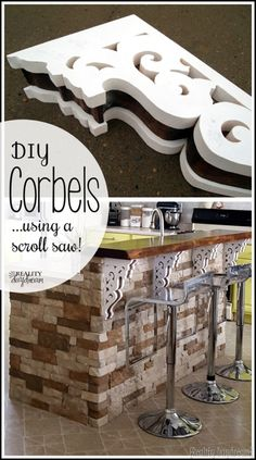 Make your own ornate corbels, chunky & detailed, using a scroll saw!  {realitydaydream.com}