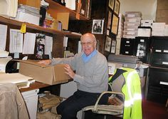 The ultimate volunteer John Kebadjian is hard at work inside Project SAVE Archives, where he has spent the past five years donating almost 8,000 hours of service.