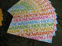 Vintage HouseWarming Party Invitation Envelope Set of 8. $8.00, via Etsy.