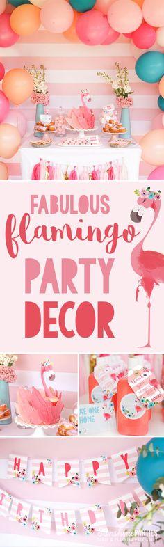 Fun Flamingo themed birthday party ideas!   kid's party ideas   summer party ideas  