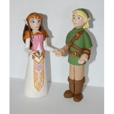 The Legend Of Zelda - Custom Zelda and Link Wedding Cake Topper WCT122 @Sara Dee  I saw this and thought about your wedding!!! :)