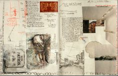 """Gérard Lange 2-24-14: """"These journals function both as records of daily life and as commonplace books, containing ideas, information and inspirations."""""""