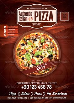 Pizza / Restaurant PSD flyer  #GraphicRiver         Print Ready pizza flyer 1 PSD File 1 Colors A4: 5mm bleed Easy color change CMYK colors Editable Text Editable logo High Resolution 300 DPI  	 PDF file included  	 A4 Papier International 210×297mm (8.25×11.6 inches)  	 This is very simple and colorful A4 flyer design that you can use for any kind of business. Use images and text that match with your business.  	 1 PSD files included in the download. Print Ready: PSD layered, CMYK , 300…