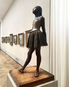 """Happy birthday to the independent-minded painter and sculptor, Edgar Degas. He rejected conventional modes of sculpture to create this sensitive and daring portrait of a young dancer. """"Little Dancer,. Dancer, Philadelphia Art, Art Museum, Photo, Edgar Degas, Philadelphia Museum Of Art, Art, Beautiful Photo, Portrait"""