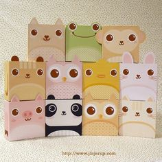 Lynn of Jinjerup  has recently released a collection of 11 animal gift boxes, handy for packing last minute gift or ca...
