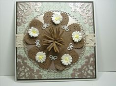 LEATHER AND DAISY CARD