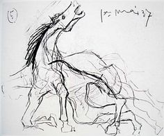 Picasso: Sketch for Guernica no.5 (horse): http://www.pablopicassoguernica.com/projects/picassoguernica/