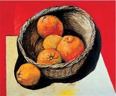 Renato Guttuso (1911 – 1987) Italian Painters, Italian Artist, Still Life, Fruit Painting, Virtual Art, Art Academy, Art Graphique, Renoir, Food Illustrations
