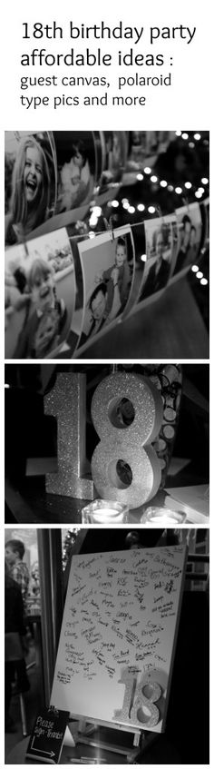 Some creative ideas for planning an 18th birthday party