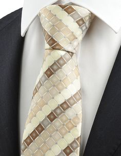 KissTies Mens Checked Tie Set Necktie   Hanky   Gift Box, Coffee >>> Learn more by visiting the image link.