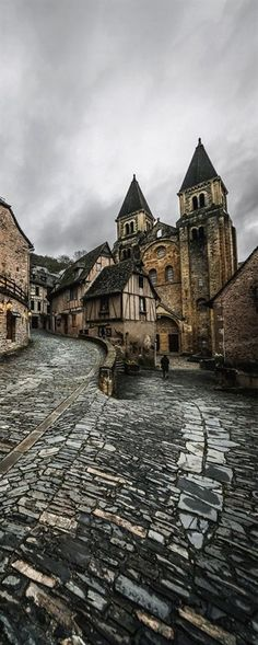 Conques, Midi-Pyrenees, France. travel, travel photos, travel destinations - SO INCREDIBLY BEAUTIFUL!! #TravelDestinations