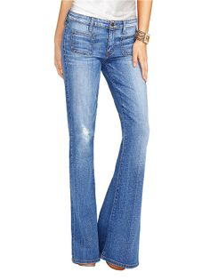 GUESS Light Wash 70's Flare Jeans on shopstyle.com