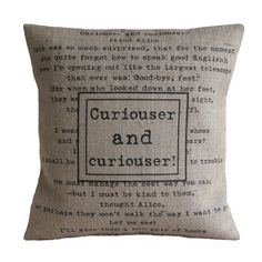 Curiouser and Curiouser Alice in by VintageDesignsReborn on Etsy, £23.00