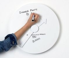 Every had a meeting that you just can't miss and you can't figure out a creative way to remember it? Well just look at your clock! This clock works as a clock and a dry erase board! Now you'll never forget anything again!