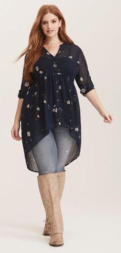 f9f7b5831aee6 Plus Size Hi-Lo Tunic - Plus Size Fashion for Women  plussize   Plussizefashionforwomen
