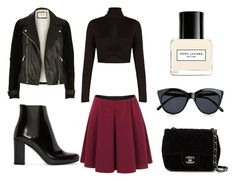 """Untitled #5"" by iveta-lethi on Polyvore featuring BCBGMAXAZRIA, Yves Saint Laurent, Chanel, Le Specs and Marc Jacobs"