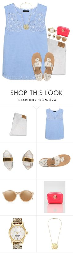 """""""Thank you so much for 1600"""" by thedancersophie ❤ liked on Polyvore featuring Abercrombie & Fitch, J.Crew, Better Late Than Never, Jack Rogers, Linda Farrow, Pinch Provisions and Kate Spade"""