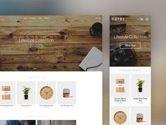 Homepage Template designed by Olly Sorsby. Connect with them on Dribbble; the global community for designers and creative professionals. Ux Design, Flat Design, Homepage Template, Ui Inspiration, Mobile Ui, User Interface, Ecommerce, Layout, Author