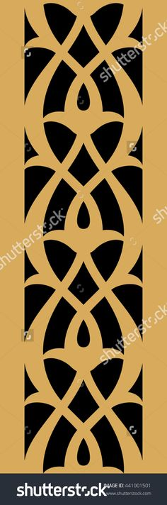 Indian Vertical Seamless Border. Traditional Islamic Floral Design. Mosque Decoration Element. Illustration vectorielle libre de droits 441001501 : Shutterstock
