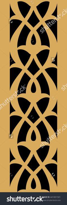 Indian Vertical Seamless Border. Traditional Islamic Floral Design. Mosque Decoration Element. Illustration vectorielle libre de droits 441001501 : Shutterstock