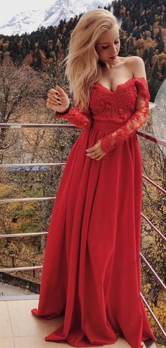 Prom Dress Long, Prom Dress With Sleeves, Prom Dresses, Lace Red Prom Dress, Prom Dress Lace Prom Dresses Long Sexy Evening Dress, Long Sleeve Evening Dresses, Evening Party Gowns, Prom Dresses Long With Sleeves, Elegant Prom Dresses, Formal Dresses For Women, Sexy Dresses, Dress Long, Prom Gowns